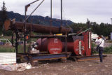 Exxon rock washer being dissembled and kept in storage.