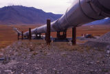 Shot of pipeline stretching off into distance.