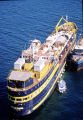"Aerial of the ""Bering Trader"" full to capacity of oily debris."