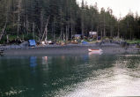Camp and staging area for volunteer spill workers from the Homer Area Recovery Coalition...