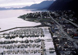 Aerial of the city of Seward.