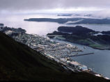 Establishing shot of the city of Kodiak.