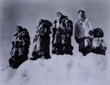 Kotzebue women in fur coats, circa 1957.