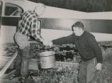 Dept. of Fish and Game employees engaged in fisheries study and work, 1962.