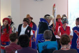 Keex' Kwan dance group performing at the Hallingstad-Peratrovich Building Dedication in Petersburg