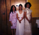 Igiugig 1982 , eighth grade graduates; Annette, Martha and Helen.