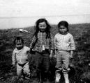 Joanne Wassillie and her brother Roland with a friend.