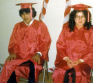 First high school graduates John Zackar and Maria Nelson.
