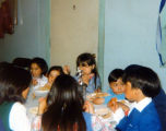 Igiugig youngsters enjoying a potluck.