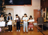 Igiugig Christmas play. Children from left to right: Eileen, Greg, Jack, Sonny and Georgette.