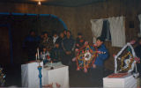 Newhalen villagers singing in the Igiugig St. Nicholas Church during Russian Christmas.