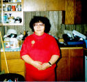 Anecia Newyaka in her kitchen.