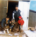 Gabby Gregory, Trefim Andrew, Mike Andrew Sr. and Smiley Andrew with their winter catch.