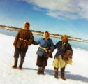 Mary Olympic, Mary Gregory and Blind Grandma heading back home from ice fishing.