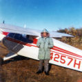 Edwin Peterson landed his airplane on Branch River sandbar.