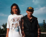 Tammy Mann with her grandfather Nick Nowatak.