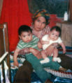 Mary Nowatak with her grandsons Stephan Nowatak and Jason Nowatak.