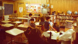 Igiugig School 1980s first glance of the activity room.