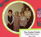 Zackar family portrait during the Christmas program in 1981.