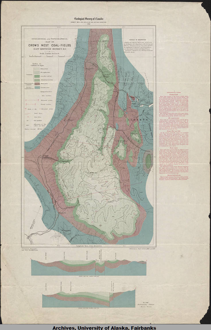 Geological And Topographical Map Of Crow S Nest Coal Fields East