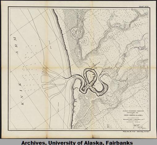 Topographic map of Ship Creek, Alaska. - University of ...