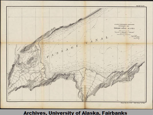 Topographic Map Of Passage Canal Alaska University Of Alaska