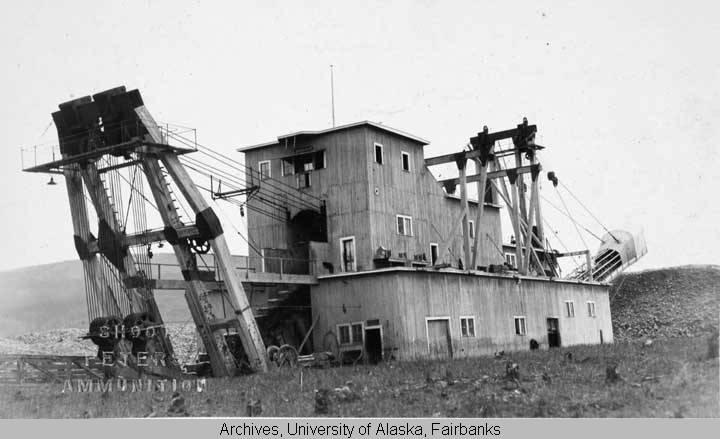 Gold Dredge near Dawson, Y  T  - University of Alaska