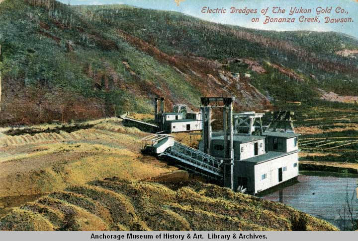 Electric Dredges Of The Yukon Gold Co On Bonanza Creek Dawson